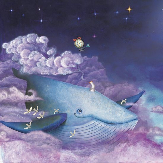 children's books, whale, moon